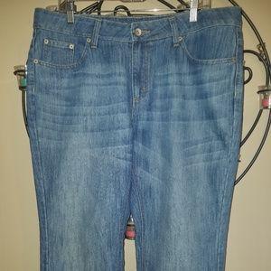 Merona Sz 16R 16 Fit 1 Cuffed Crop Capri Pants